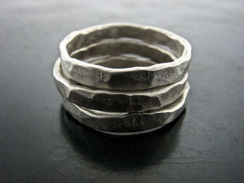 Zeus Stackable Rings - Sterling Silver
