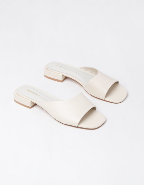 Bone Low Open Toe Mule