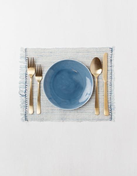 Set of 2 Light Indigo Placemats