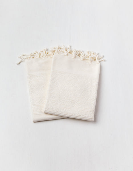 Embroidered Cotton Hand Towels