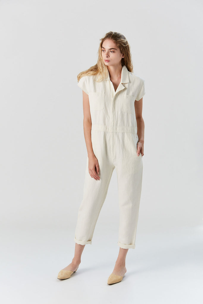 Azore Jumpsuit, Cream