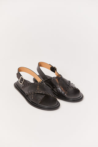 Tripon Sandal, Black