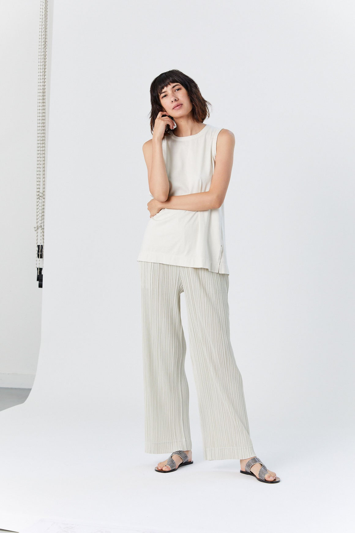 Pleats Please by Issey Miyake - Easy Tank, White
