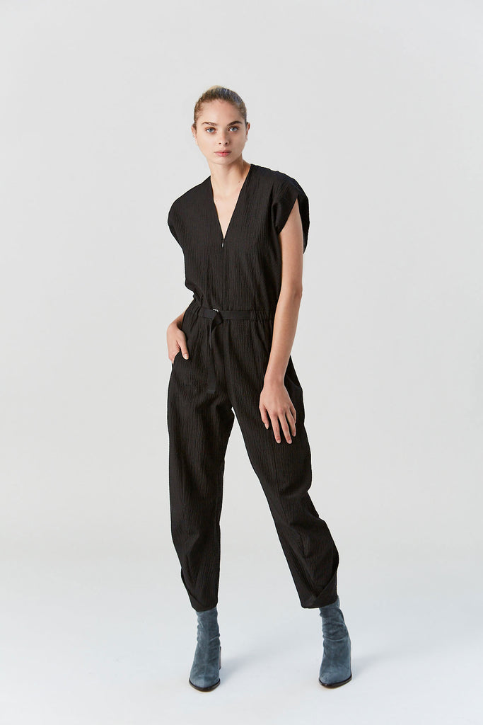 Strap Akeo Jumpsuit, Black