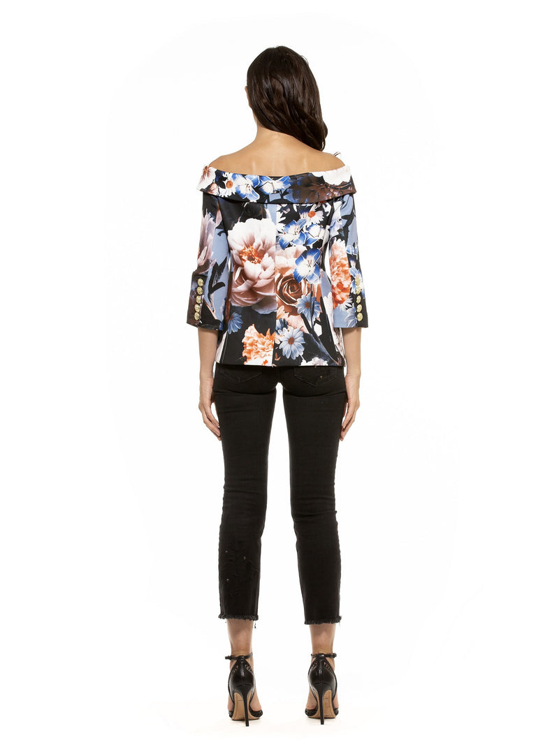 Karinna Off Shoulder Floral Jacket [product_type)