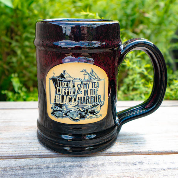 Tea In The Harbor Tankard - Burgundy Glaze