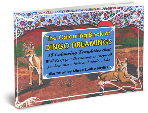 The Australian Desert Dingo COLOURING BOOK by Mirree Contemporary Dreamtime Animal Series