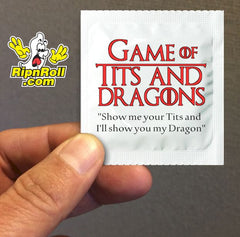 Tits and Dragons - Game of Thrones condoms?