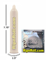 Iron Grip condoms - Snugger fit condoms at RipnRoll.com