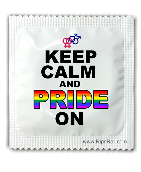 Gay Pride Condoms - Keep Calm and Pride On