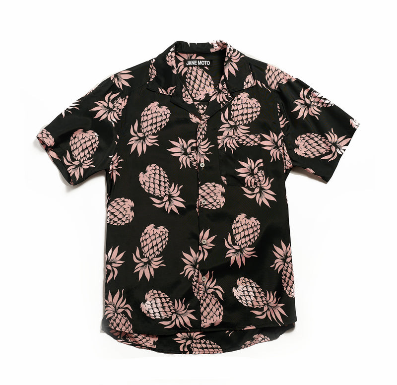 Hawaiian Shirt - Pink Pineapple