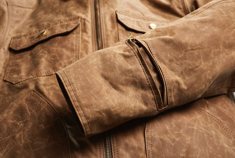 THE DRIGGS Waxed Canvas Field Tan Riding Jacket