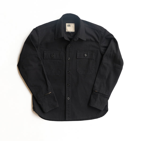 THE MERCER CPO Riding Shirt -  Black
