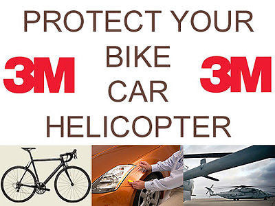 Helicopter Bike Frame Protection Tape 8671HS - Strong Clear Protective Film by 3M - CHOOSE YOUR SIZE