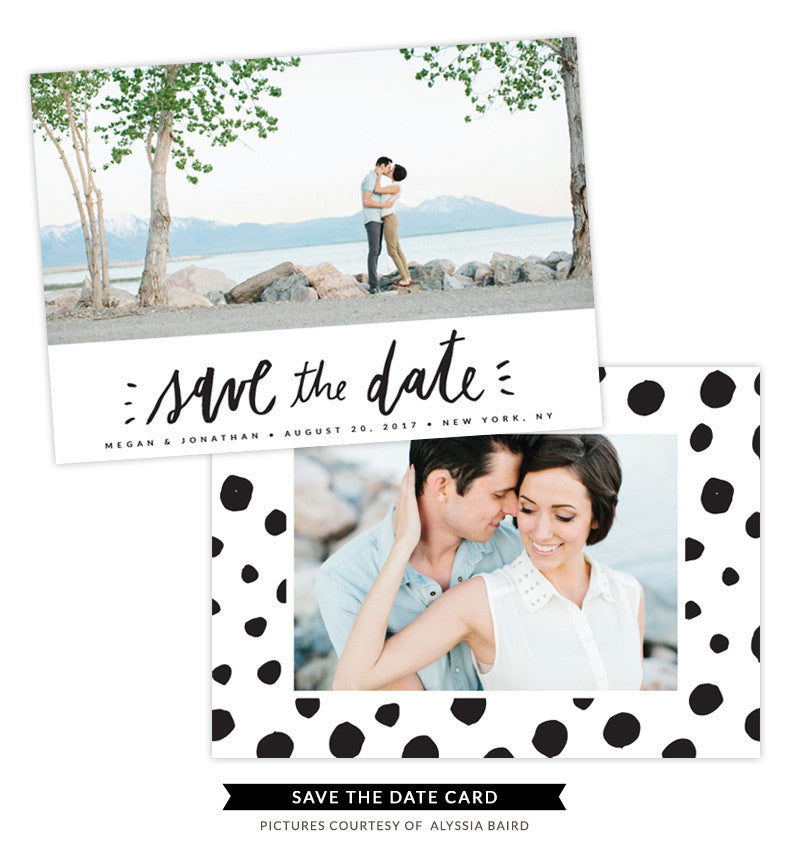 Save the Date card | Dotted Love e1336