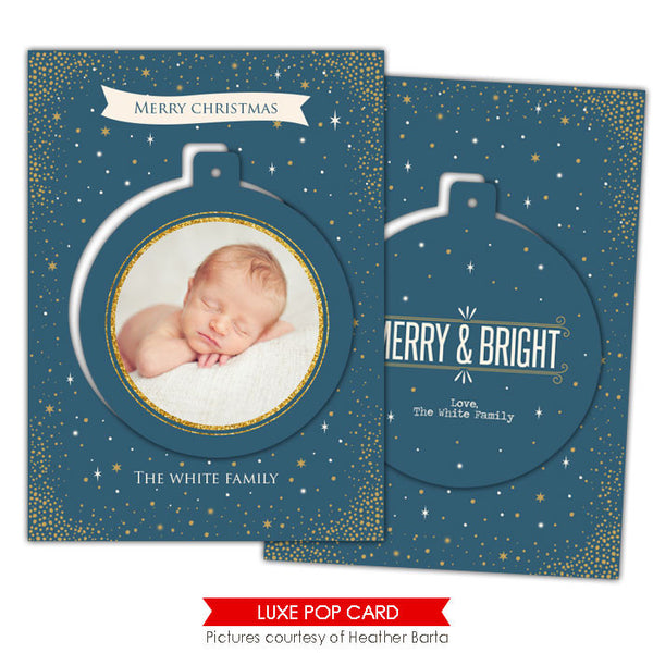 Christmas Luxe Pop Card Template | Blue night e943