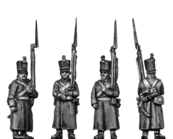 (AB-ER60) Musketeer, shako, greatcoat, march attack