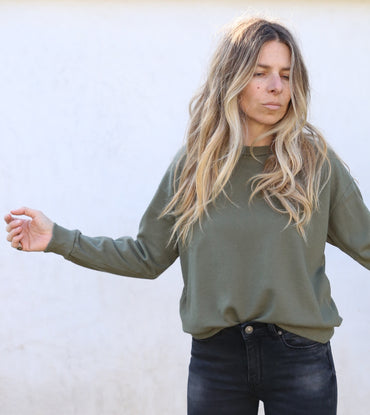 Chelle Olive Pullover