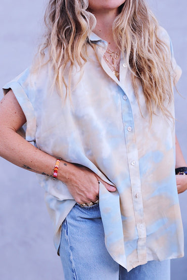 Tie Dye Button Down Cloud