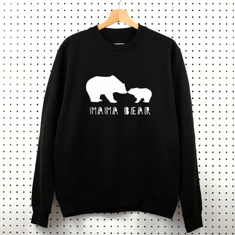 Mama Bear Sweatshirt - Little Whirlwinds cool baby clothes and cool older kids clothes and gifts