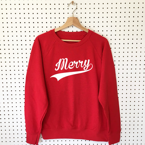 Merry (Clean Version!) Christmas Sweatshirt - Little Whirlwinds cool baby clothes and cool older kids clothes and gifts