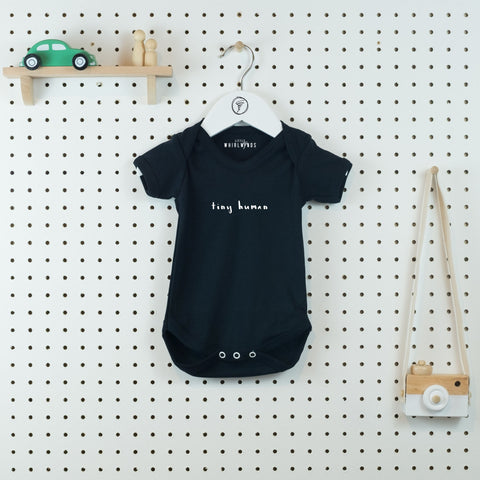 Tiny Human Baby Bodysuit - Little Whirlwinds cool baby clothes and cool older kids clothes and gifts