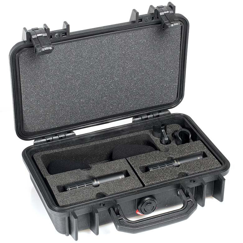 DPA d:dicate™ 2011C Stereo Pair with Clips and Windscreens in Peli Case