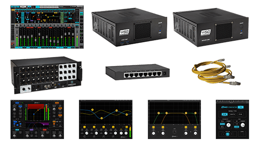 Waves eMotion LV1 + Server One-C + 24-Preamp Stagebox + Axis One