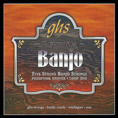 GHS Strings 5-STR BANJ,PHOS BR,LT