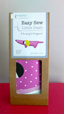 Easy Sew Little Dash kit contains a printed  cotton dachshund, toy stuffing and instructions, all packed in a recyclable cardboard carton. All Pippablue kits are designed and packed in Ireland, using the best quality materials