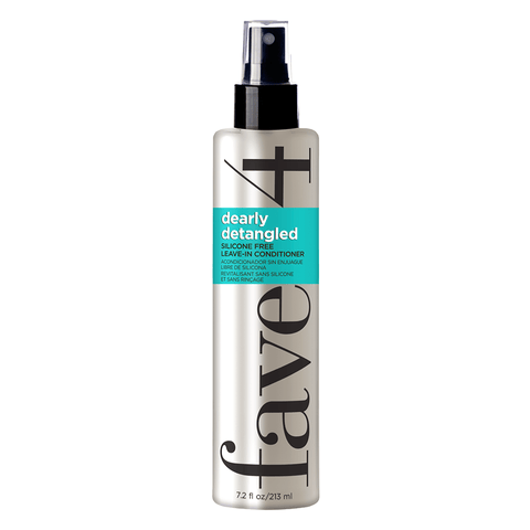 Silicone free leave-in conditioner to detangle and moisturize dry hair.
