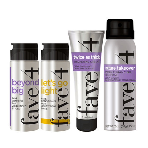 big hair mini products for trial or travel. great for volumizing