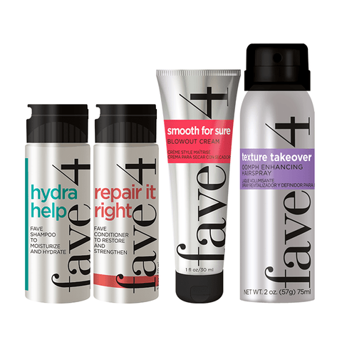 Mini hydrating and smoothing hair products for trial or travel