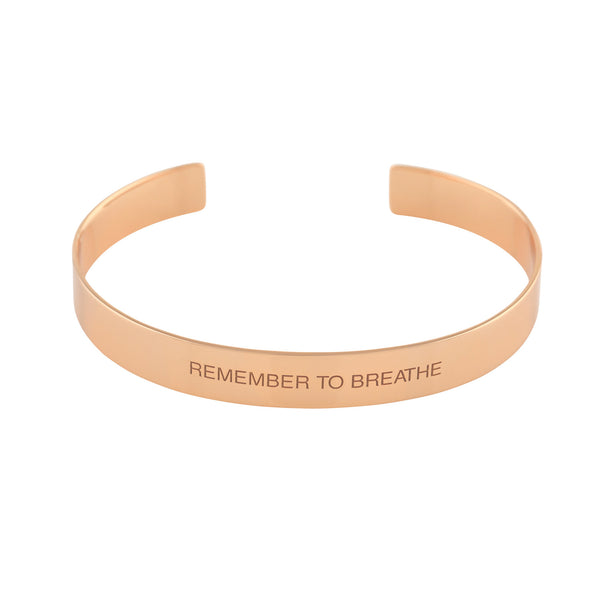 """Breathe"" Mantra Cuff - VETIVR  - 1"