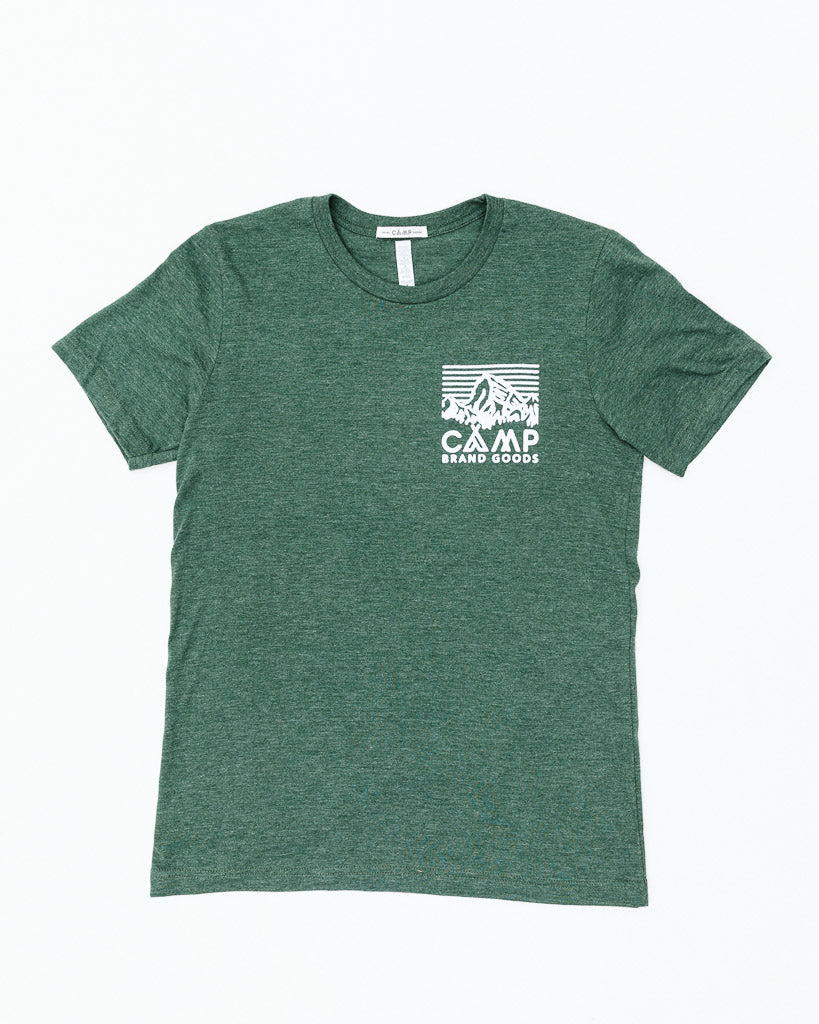 HERITAGE LOGO T-SHIRT // FOREST HEATHER