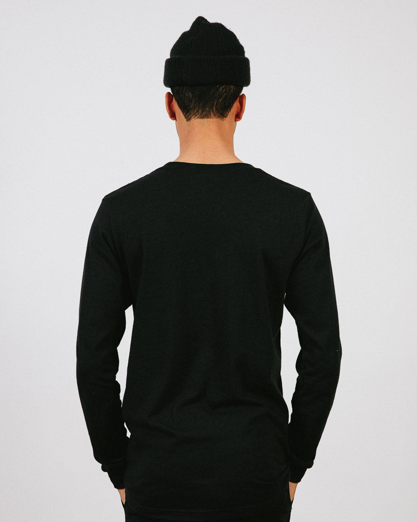 TRIED & TRUE LONG SLEEVE // BLACK HEATHER