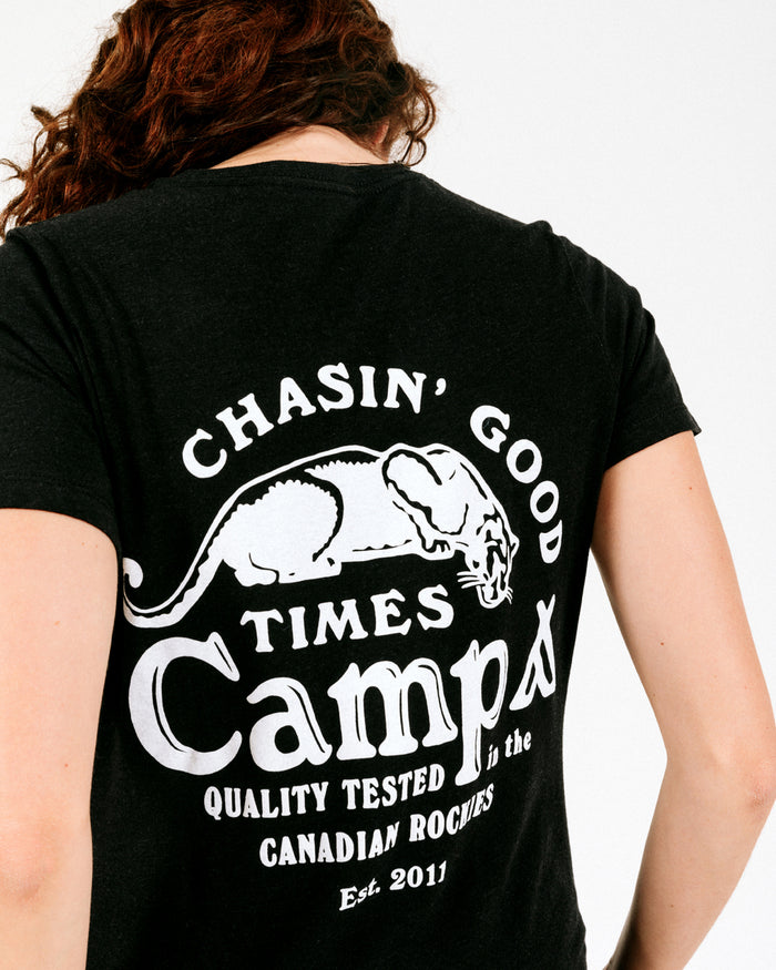 CHASIN' GOOD TIMES RELAXED T-SHIRT // BLACK