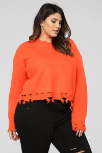 Call You Tonight Sweater - Orange