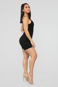 One Step Closer Bodysuit - Black