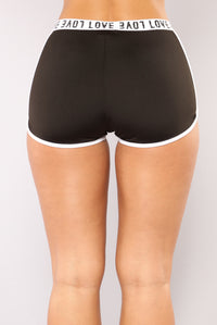 Love Me Tender Shorts - Black