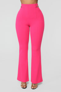 Seize The Day Flare Pants - Pink