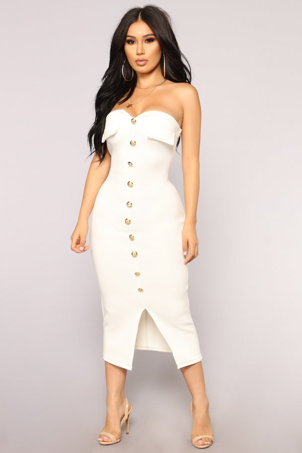 315f22a154b3 Key To My Heart Tube Dress - White
