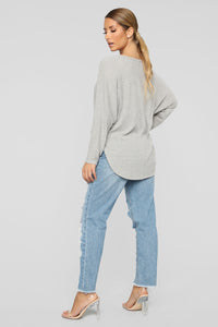 Twist Me Up Top - Grey