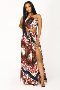 Raina Maxi Dress - Navy