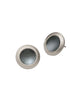 Button Earrings blackened silver
