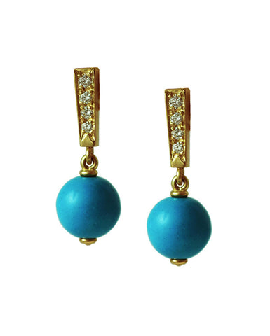 Chinese Lantern Earrings turquoise