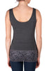 Dark Grey Short Lace Tank Top