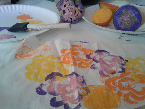 Fabric Painting with Fruit & Vegetables Class