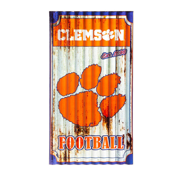 Clemson Distressed Metal Sign