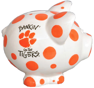 "Clemson ""Bankin' on the Tigers"" Piggy Bank"